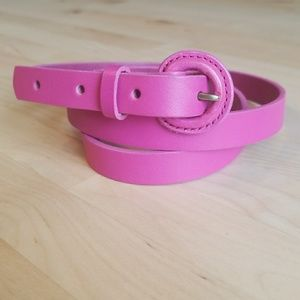 J. CREW Skinny leather covered buckle belt